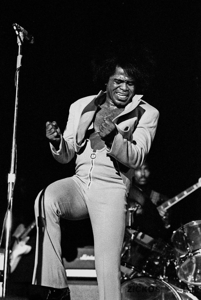 Image of James Brown performing in February 1973